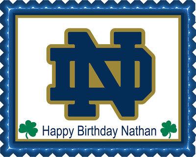 Notre Dame Fighting Irish - Edible Cake Topper OR Cupcake Topper, (Irish Topper)