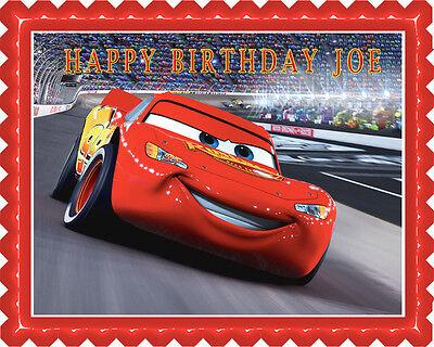 Cars Cupcake (Disney Pixar Cars Lightning McQueen (Nr2) - Edible Cake Topper or Cupcake)