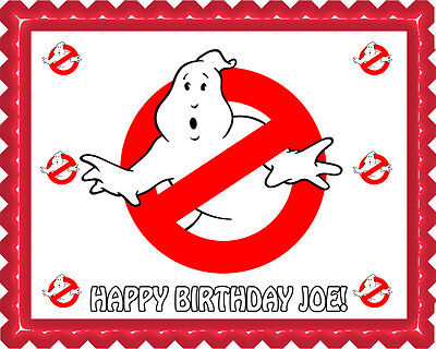 Ghostbusters (5) - Edible Cake Topper OR Cupcake Topper, Decor - Ghostbusters Decorations
