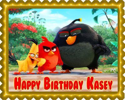 The Angry Birds Movie - Edible Cake Topper OR Cupcake Topper, Decor](Angry Birds Birthday Cake)
