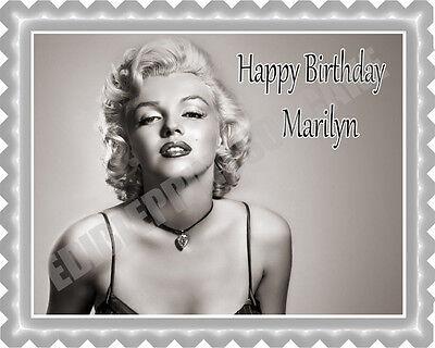 Marilyn Monroe (2) - Edible Cake Topper OR Cupcake Topper, Decor - Marilyn Monroe Party Supplies
