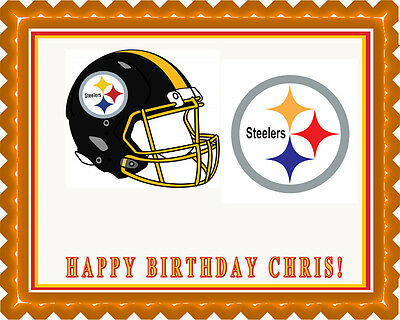 Pittsburgh Steelers - Edible Cake Topper OR Cupcake Topper, Decor (Steelers Cupcake Toppers)