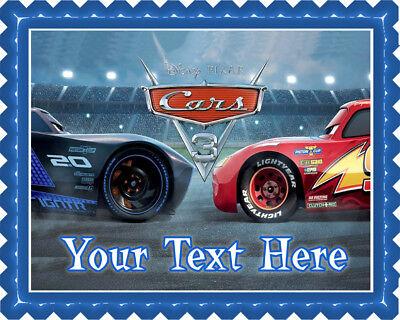 Disney Pixar Cars Lightning McQueen (Nr3) - Edible Cake Topper or Cupcake Topper (Cars Cupcakes)