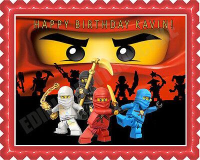 Lego Ninjago (2) - Edible Cake Topper OR Cupcake Topper, Decor - Edible Birthday Cake Decorations