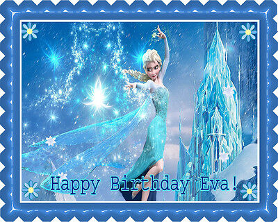 Frozen Elsa - Edible Birthday Cake Topper OR Cupcake Topper, Decor
