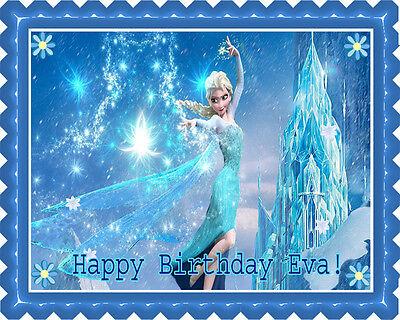 Frozen Elsa - Edible Birthday Cake Topper OR Cupcake Topper, - Frozen Cupcake Topper