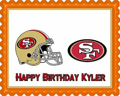 San Francisco 49ers - Edible Cake Topper OR Cupcake Topper, Decor](49ers Cake)