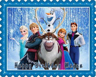 Frozen (Nr5) - Edible Cake Topper OR Cupcake Topper, Decor ()