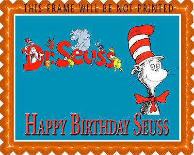 Dr Seuss - Edible Cake Topper OR Cupcake Topper, Decor (Dr Seuss Cupcakes)