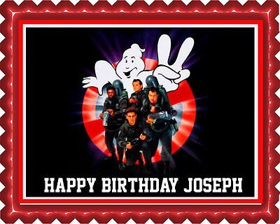 Ghostbusters (Nr2) - Edible Cake Topper OR Cupcake Topper, Decor - Edible Birthday Cake Decorations
