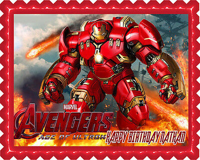 Iron Man Hulkbuster Edible Birthday Cake Topper OR Cupcake Topper, Decor](Birthday Iron Man)