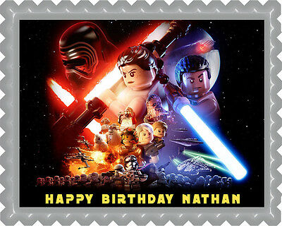 Lego Star Wars (Nr4) - Edible Cake Topper OR Cupcake Topper, Decor](Star Wars Cake Decoration)