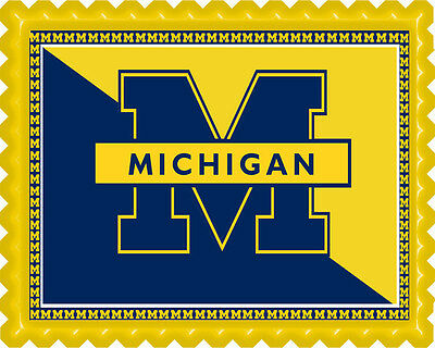 University of Michigan - Edible Cake Topper OR Cupcake Topper, Decor](University Of Michigan Party Supplies)