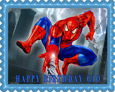 SPIDERMAN - Edible Cake Topper OR Cupcake Topper, Decor - Spiderman Cupcake Topper