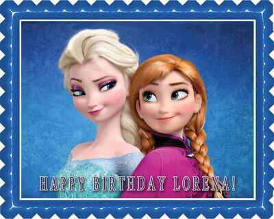 FROZEN Anna and Elsa - Edible Cake Topper OR Cupcake Topper, Decor - Frozen Cake Decor