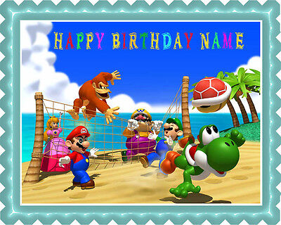 Mario Party - Edible Cake Topper OR Cupcake Topper, - Mario Party Birthday