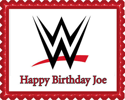Wwe Cake Toppers (WWE - Edible Cake Topper OR Cupcake Topper,)