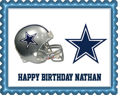 Dallas Cowboys (3) - Edible Birthday Cake Topper & Cupcake Topper - Cowboy Birthday Cake