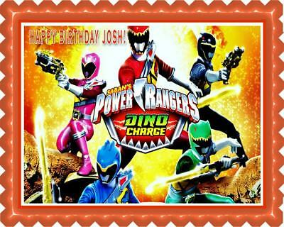 Power Rangers Dino Charge (Nr2) - Edible Cake Topper OR Cupcake Topper, Decor