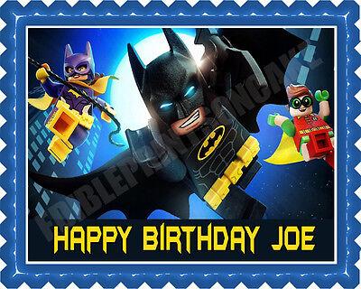 The lego Batman movie (Nr2) - Edible Cake Topper & Cupcake Topper (Lego Batman Cake)