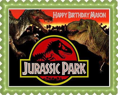 Jurassic Park - Edible Cake Topper OR Cupcake Topper, Decor - Jurassic Park Cake Decorations