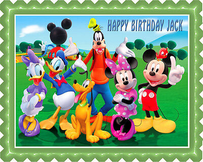 Mickey Mouse Clubhouse (3) - Edible Cake Topper OR Cupcake Topper, Decor