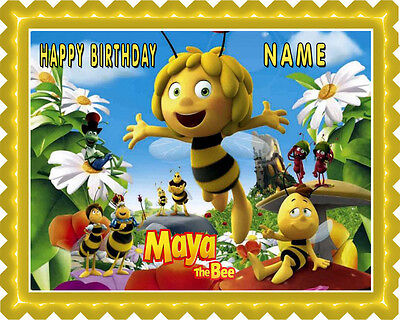 Maya The Bee Party Supplies (Maya the Bee - Edible Cake Topper OR Cupcake Topper,)