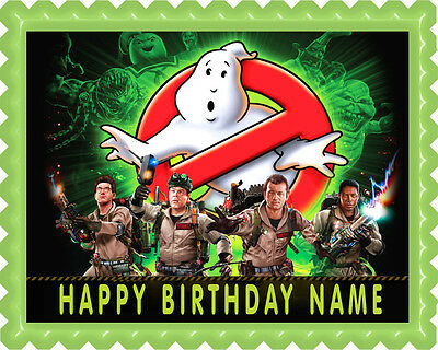 GHOSTBUSTERS (1) - Edible Cake Topper OR Cupcake Topper, Decor - Ghostbusters Decorations