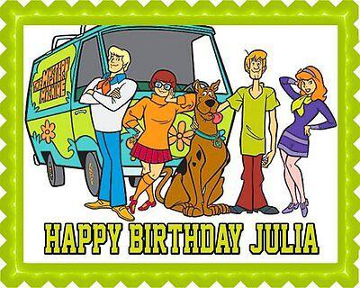 Scooby-Doo - Edible Cake Topper OR Cupcake Topper, - Scooby Doo Cupcake Toppers