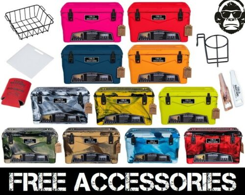 45QT NEW RUGGED+ COLD BASTARD PREMIUM ICE CHEST COOLER 11 colors FREE GIFTS ACCS