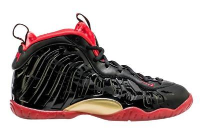 Nike Little Posite One Foamposite Dracula Halloween Black Red GS 5Y 846077 003