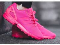 Bright pink Adidas flux size 9