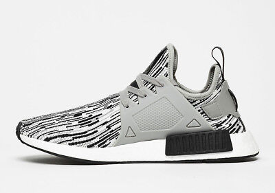 Men Adidas NMD XR1 Primeknit Core Black/Solid Grey-White BY1910