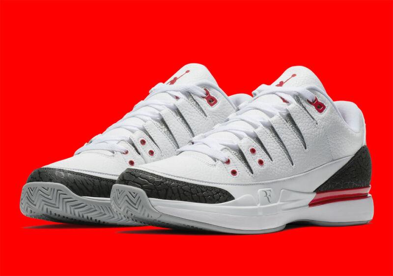 02b7f21b32fc89 Nike Zoom Vapor RF X AJ3 New Men s White Tennis Shoes 709998-106 Jordan  Federer