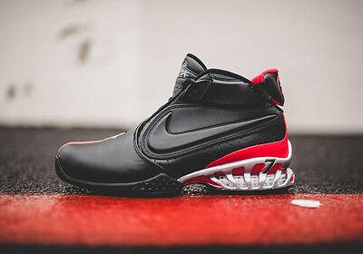 Nike Zoom Michael Vick Ii Atlanta Falcons Sneakers Bred Blk   Red 599446 005 Sku