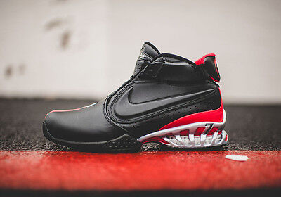 Nike Zoom Michael Vick Ii Atlanta Falcons Sneakers New Bred Blk   Red 599446 005