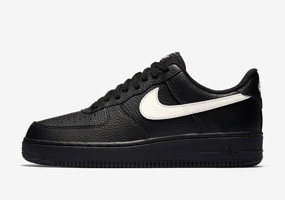 low priced 7a793 5dc1b ... shoes uk 10 new in box 8dc6c 76bbc  switzerland nike air force 1 black  leather with white swoosh dfd60 3564f