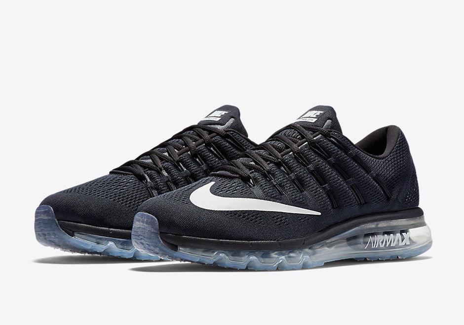 Nike - Mens Nike Air Max 2016 806771-001 Black/White-Silver Brand New Size 11