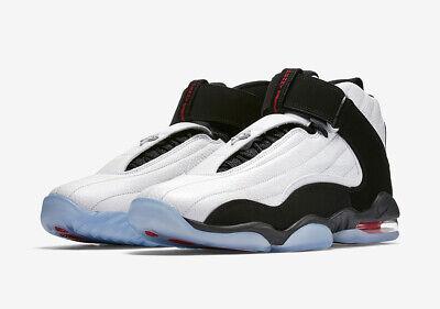 Nike Air Penny IV 4 CHICAGO BULLS WHITE BLACK TRUE RED HARDAWAY 864018-101