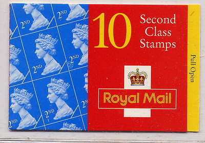 GB 1996 10 x 2nd CLASS STAMPS BARCODE BOOKLET HC16