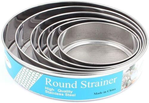 Flour Shifter Strainer Set of 6 Fine Mesh (#6)