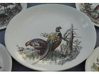 Game Birds set of 7 Large Plates by Johnson Brothers