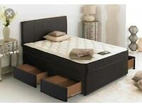 ⭐🆕HUGE SAVINGS LUXURY DIVAN BED BASES IN SINGLE, DOUBLE, SMALL DOUBLE, KING SIZE & MATTRESSES