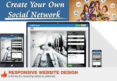 Social network website video music mobile phone responsive design FREE install