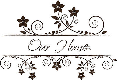 Vintage Style Home Decor (Our Home Vintage Style Vinyl Wall Home Decor Decal Quote Inspirational Adorable)