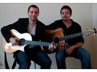 Acoustic guitar duo available