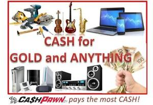 Cash for GOLD or Anything of Value.  Instant Cash Loans. Cheaper than Payday Loans.  Family Friendly Store.  CashPawn!