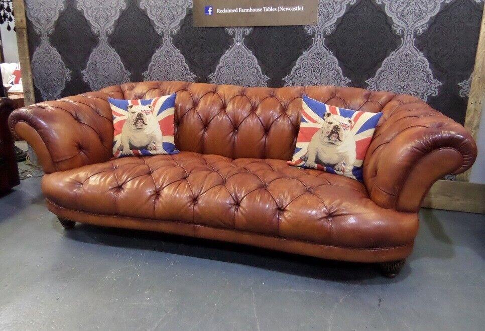 Tan Leather 3 4 Seater Sofa