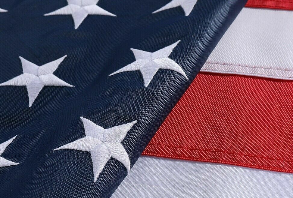 3x5ft US American Flag Heavy Duty Embroidered Stars Sewn Stripes Grommets Oxford Collectibles