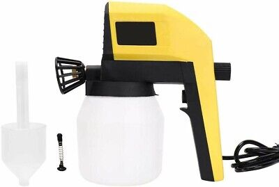 Electric Paint Spray Gun 100W, 1000ml for Auto Home Appliance Woodworking - DIY
